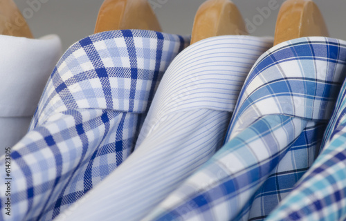 Mens shirts hanging