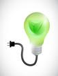 green leave eco light bulb illustration design