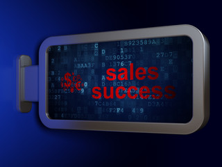 Advertising concept: Sales Success and Finance Symbol on