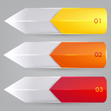 Colorful bookmarks and arrows