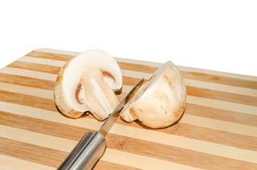 Cut mushroom.