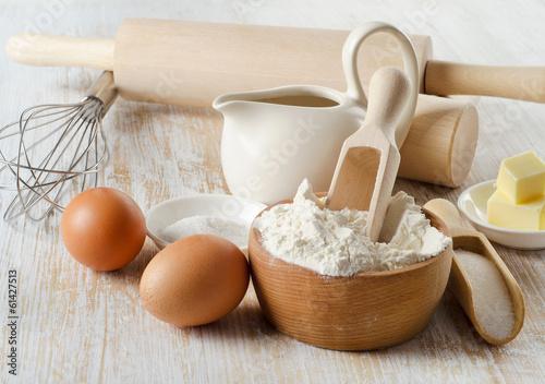 Plexiglas Bakkerij baking ingredients