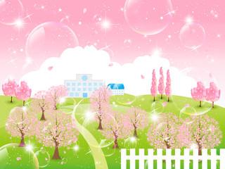 桜 学校 背景