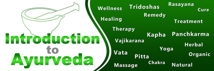 Introduction To Ayurveda Geen Keywords Banner