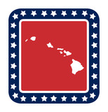 Hawaii state button