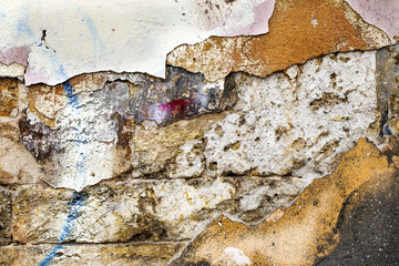 texture of old plaster wall