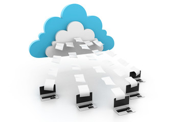 Cloud computing with data transferring