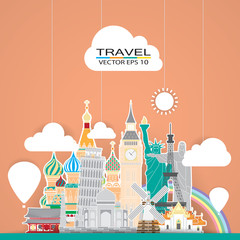 travel landmark background