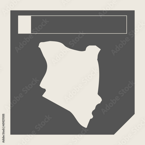 Kenya map button