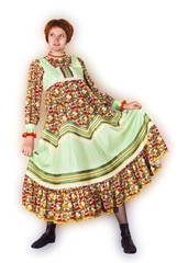 Woman in folk sundress