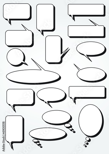 Speech bubbles - Illustration