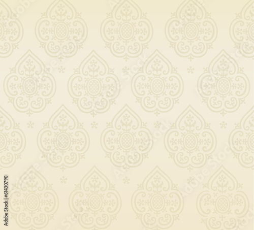 Cream ornament background