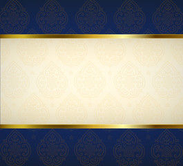 Ornament background with gold ribbon