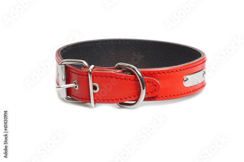 red collar isolated over white background