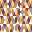 Seamless pattern with colored diamonds and triangles.