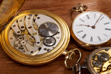 Close-up of some nostalgic Pocket Watches