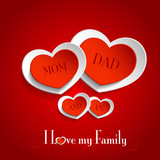 Hearts - Love my Family