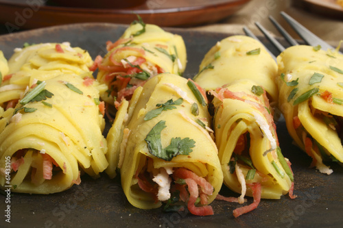 Khandvi – A gram flour and buttermilk preparation from Gujarat