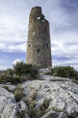 old watchtower on the Mediterranean coast