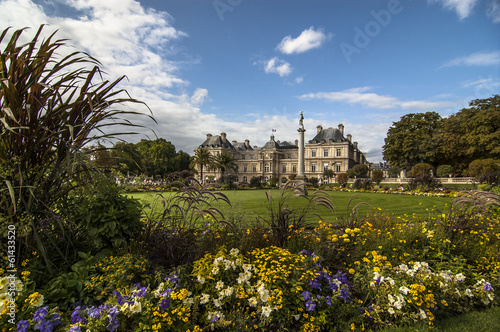 Paris, France - famous landmark, Luxembourg Palace and park