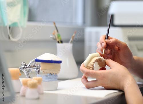 Leinwandbild Motiv dental dentist objects