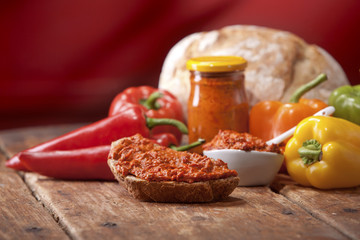 Traditional pepper relish from the Balkans