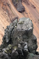 Lava e roccia basaltica