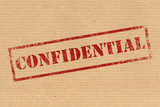 Confidential rubber ink stamp