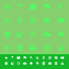 Tool bar color icons on green background