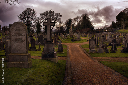 Eerie old Graveyard in Stirling
