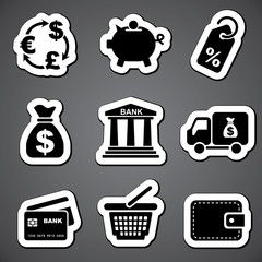 finance sticker  label