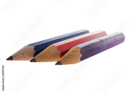 Colourful sharp Pencils isolated on white