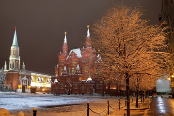 Night Moscow. Red square. Russia