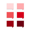 Red set square speech bubbles