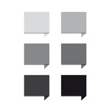 Greyscale set square speech bubbles