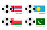 Soccer Ball with Aland, Albania, Alderney and Algeria Flag