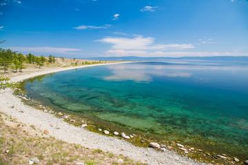 Shore of Lake Baikal in summer