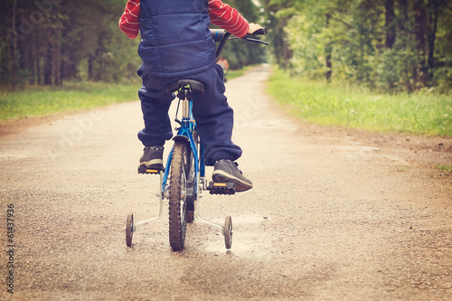 A boy on a bike