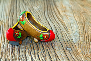 Traditional Turkish Clog on a wooden table