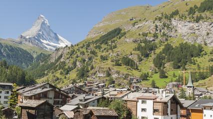 Zermatt, Bergdorf, Schweizer Alpen, Matterhorn, Sommer