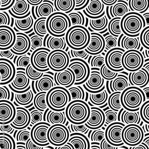 Retro black and white seamless pattern.