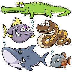 Vector illustration of Wild animal cartoon