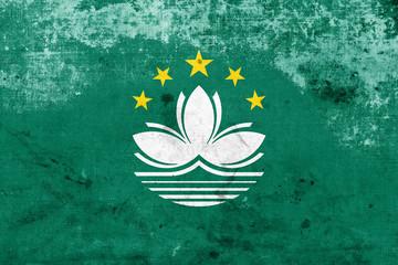 Grunge Macau Flag