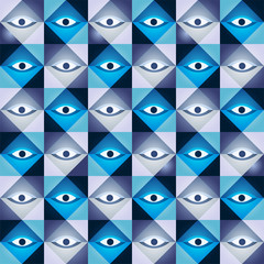 Geometric seamless made of eyes.