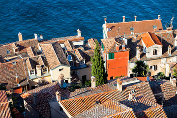 Aerial View from Rovinj Belfry, Croatia