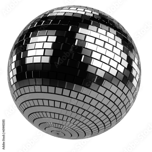 realistic 3d render of discoball