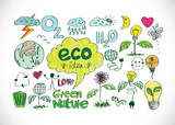 Eco Idea Sketch and Eco friendly Doodles