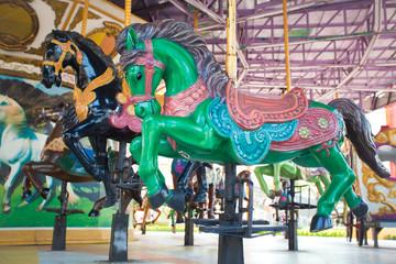 Carousel Horses at Siam park city , Bangkok Thailand