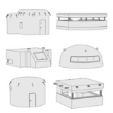 cartoon image of military bunkers