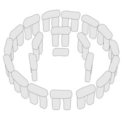 cartoon image of stonehenge structure
